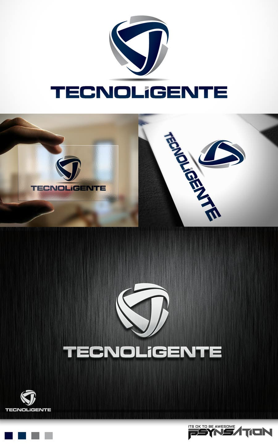 #108 for Design a Logo for Tecnoligente by Psynsation