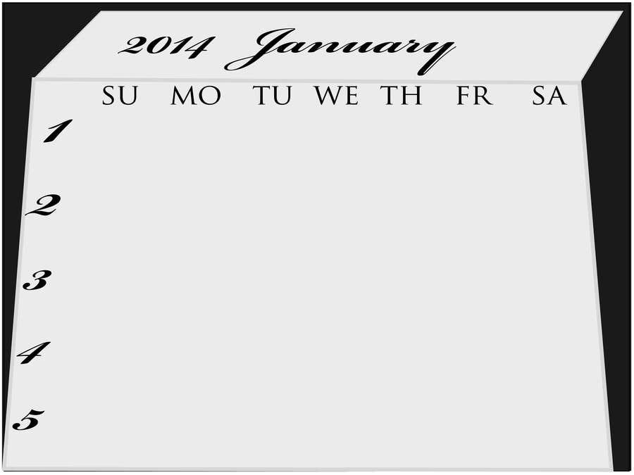 Kilpailutyö #6 kilpailussa Design and Layout 2014 Calendar