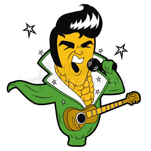 Penyertaan Peraduan #12 untuk Elvis as Corn T-Shirt
