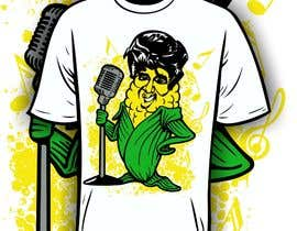 #14 para Elvis as Corn T-Shirt por iYNKBRANE