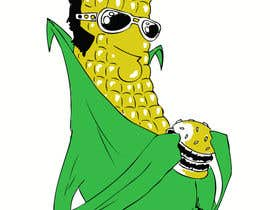#21 for Elvis as Corn T-Shirt af Maxoverdrawn