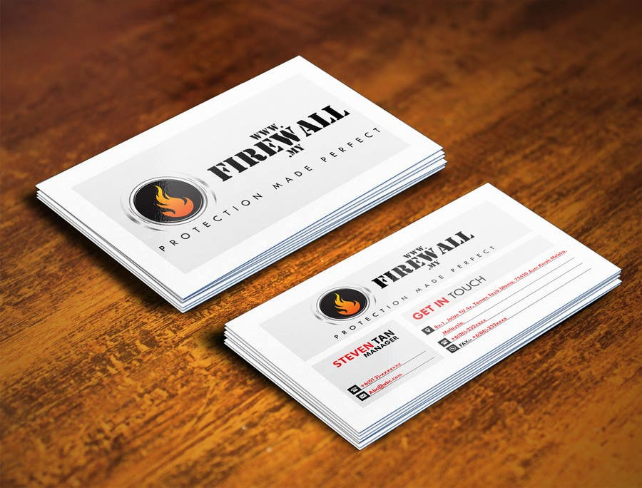 #24 for Design some Business Cards for firewall by pointlesspixels