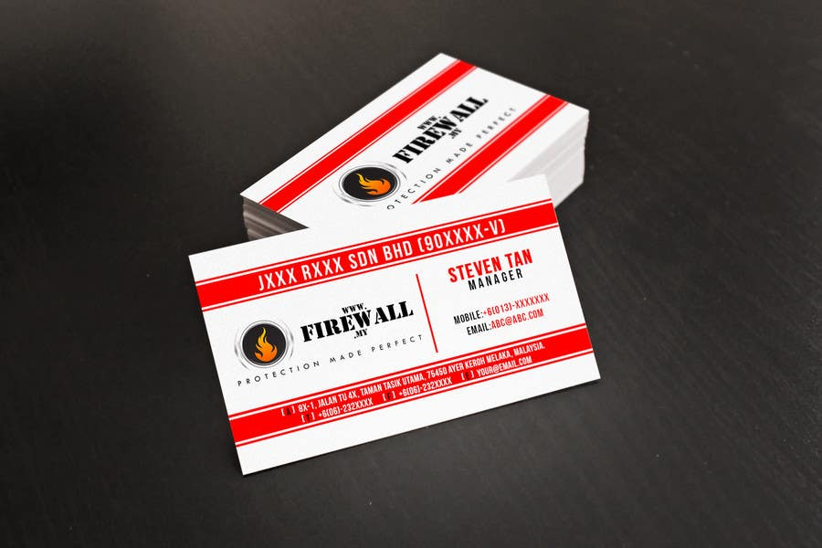 #37 for Design some Business Cards for firewall by pointlesspixels