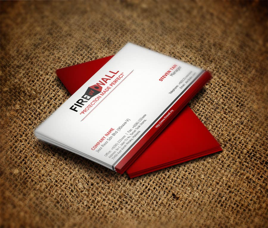 #34 for Design some Business Cards for firewall by RERTHUSI