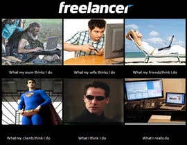 #47 para Graphic Design for What a Freelancer does! por fayt75