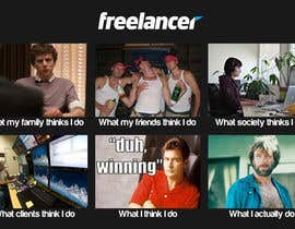 #135 para Graphic Design for What a Freelancer does! por HarisKay
