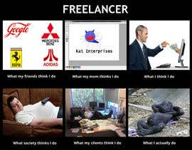 #113 для Graphic Design for What a Freelancer does! от aroon21
