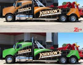 Nro 10 kilpailuun Tow Truck Wrap Design käyttäjältä marcelorock