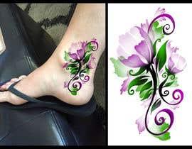 Nro 23 kilpailuun Tattoo design- feminine floral tattoo desired to cover existing tattoo on inner ankle käyttäjältä canache