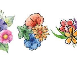 Nro 7 kilpailuun Tattoo design- feminine floral tattoo desired to cover existing tattoo on inner ankle käyttäjältä JessiJames