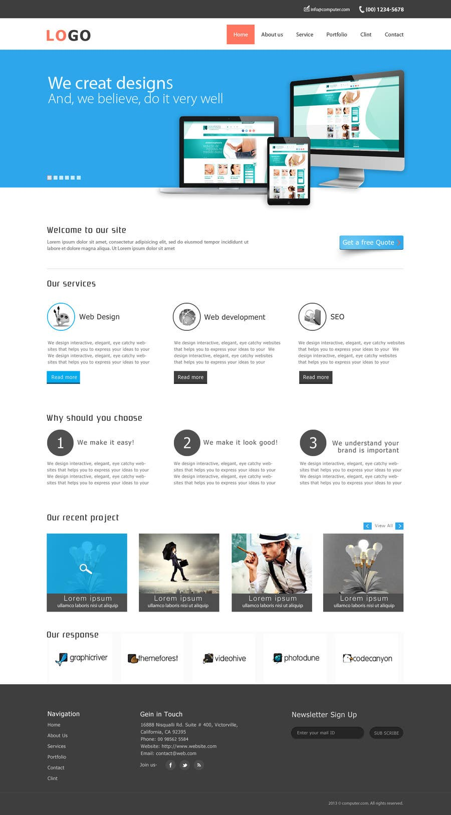 #15 for Design a Website Mockup for SEO by deshiconcept
