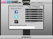 Contest Entry #11 for Design a Website Mockup for domain Ladyboygame.com