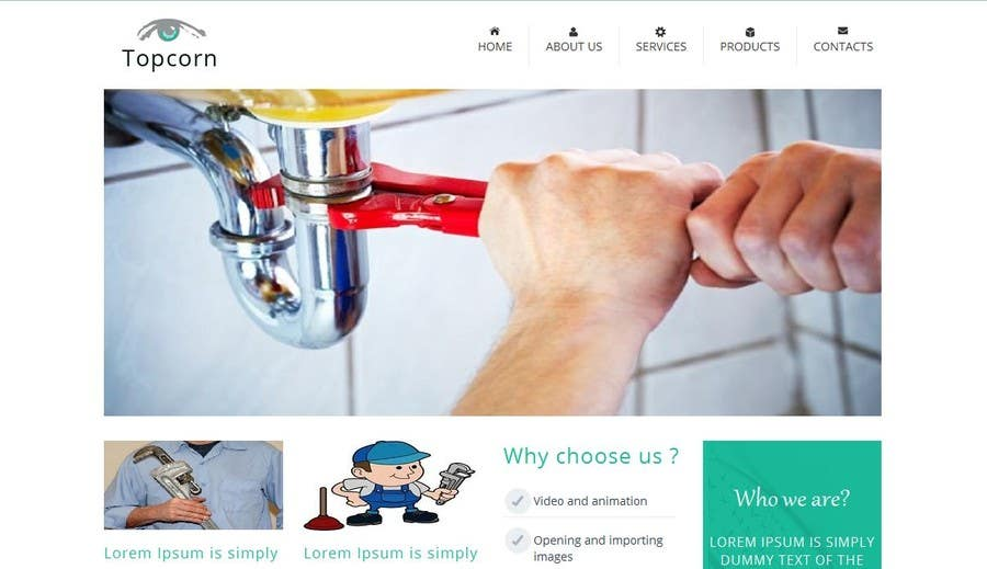 Proposition n°2 du concours Build a Website for a plumber