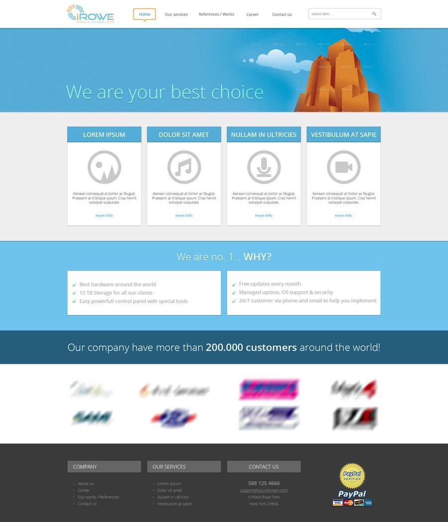 Penyertaan Peraduan #1 untuk Design a Website for my company