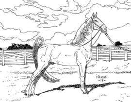 nº 4 pour Hand-drawn sketch of horse in AI format par andyiommi