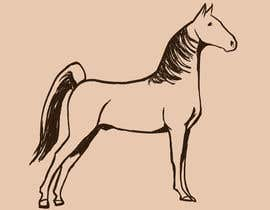 nº 17 pour Hand-drawn sketch of horse in AI format par ReiezJ