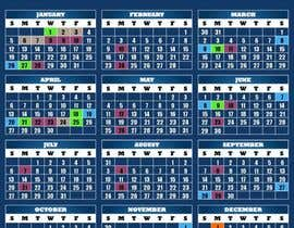 #14 untuk Simple updates to Calendar Design oleh Bradman87uk