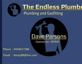 #23 untuk Design some Business Cards for The Endless Plumber oleh downyquinn