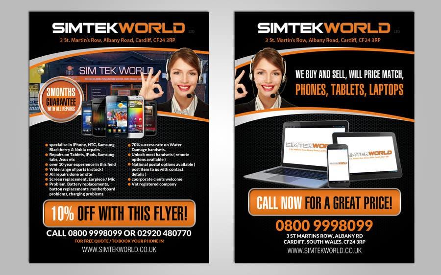 #15 for Good Design a Flyer for SimTek World Ltd by hih7