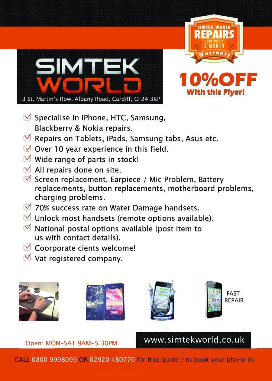 #13 for Good Design a Flyer for SimTek World Ltd by AzuPS