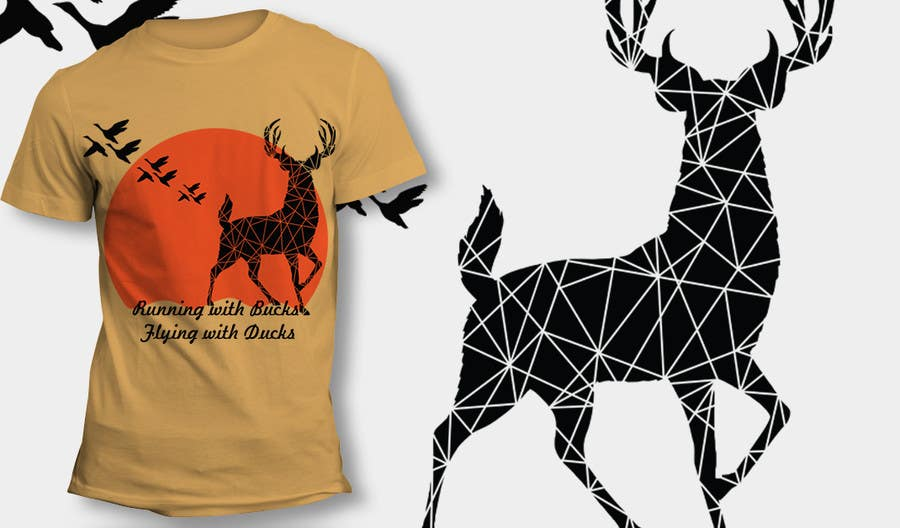 #36 for Design a deer and ducks t shirt Many more jobs to come this is a test to find our designer. Logo by theislanders