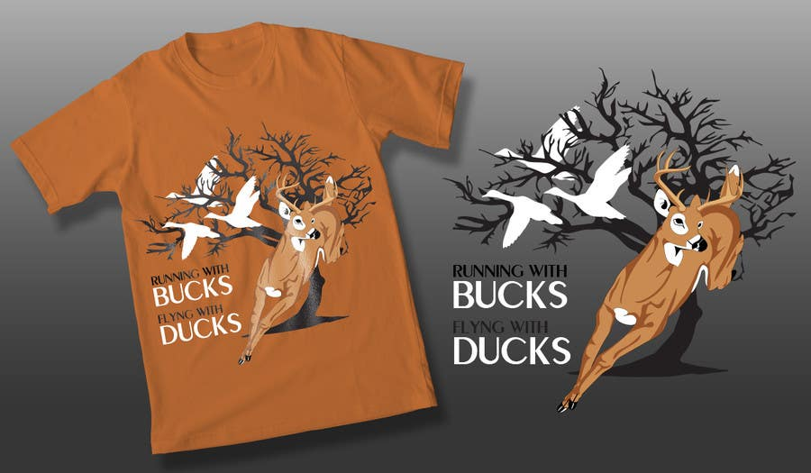 #43 for Design a deer and ducks t shirt Many more jobs to come this is a test to find our designer. Logo by theislanders
