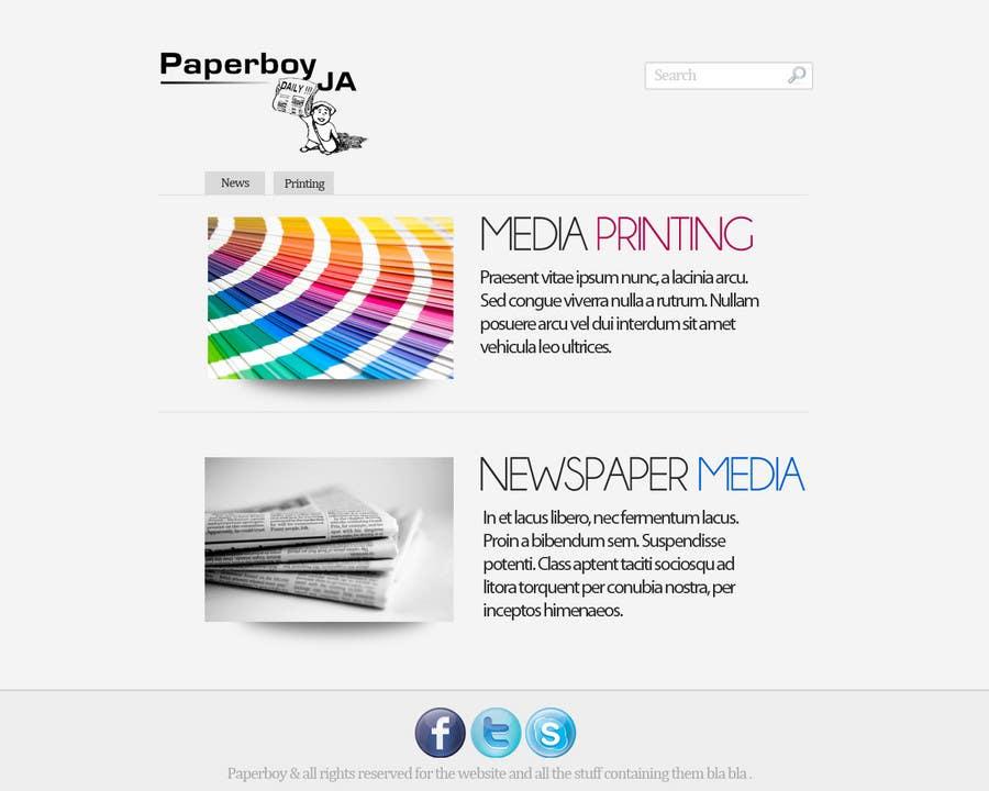 Konkurrenceindlæg #                                        50                                      for                                         Graphic Design for Paperboy JA