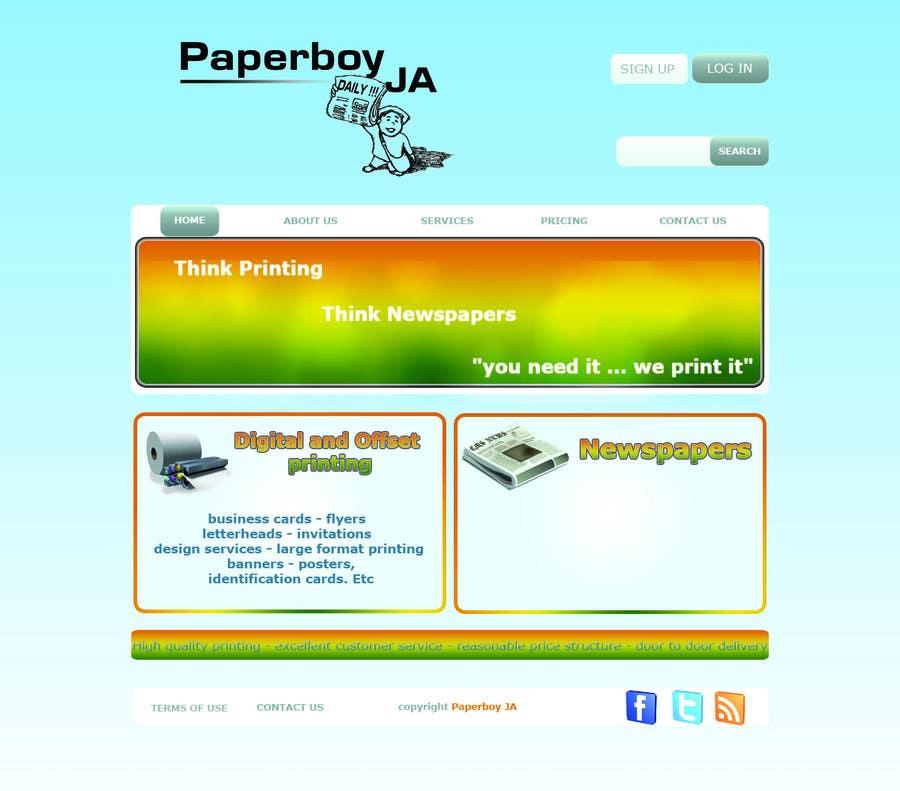 Konkurrenceindlæg #                                        31                                      for                                         Graphic Design for Paperboy JA
