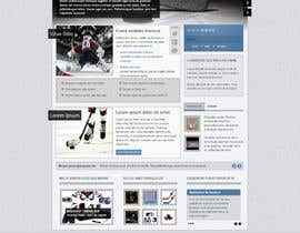 #1 for Design a Website Mockup for Athletics Training Site - repost af Simone97