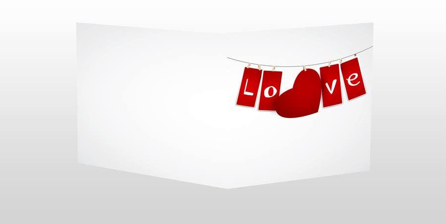 Kilpailutyö #18 kilpailussa Design some Stationery for a Valentine's Day card