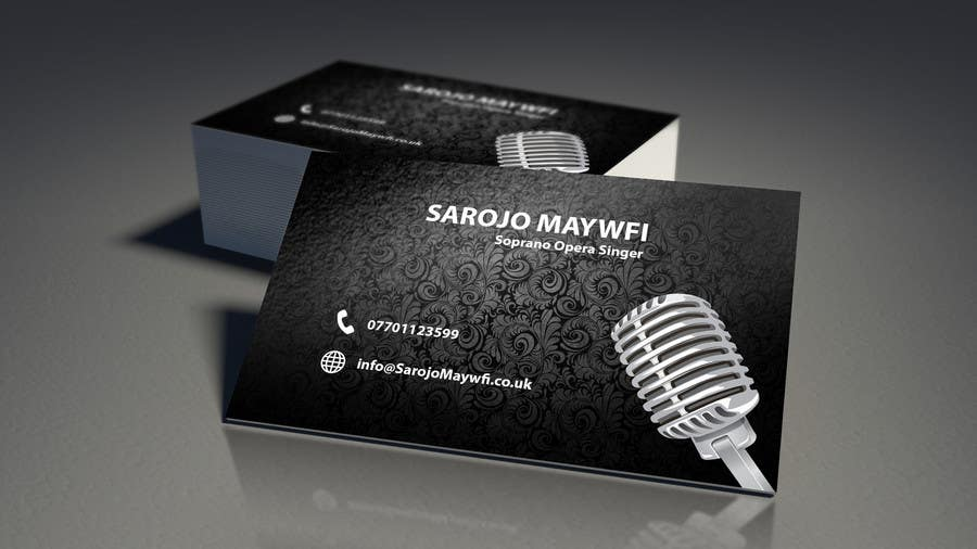 Entry 29 by pointlesspixels for design a business card concept for inscrio n 29 do concurso para design a business card concept for an opera singer reheart Image collections