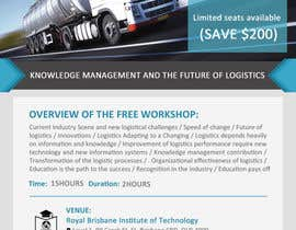 #19 untuk Design a Flyer for a Logistics Workshop oleh mydZnecoz