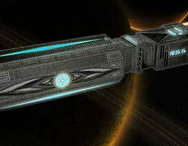 #10 for Concept Art for existing 3D space ship model for SciFi Game by yolid