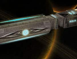 #9 for Concept Art for existing 3D space ship model for SciFi Game by yolid
