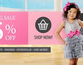 #34 for Design a Banner for a 75% off Sale for Designer Kids Clothing af PhotoOperation