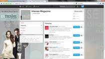 Graphic Design Kilpailutyö #51 kilpailuun Twitter Background for Intense Magazine