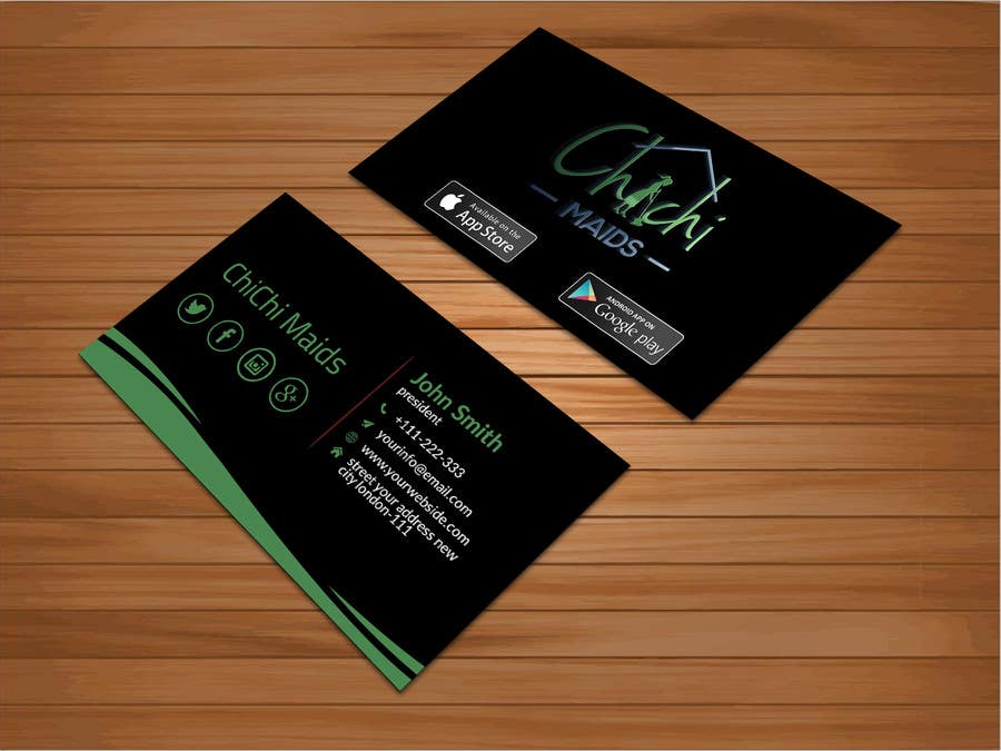 Entry 18 by bakhtear05 for design modern business card with social business card reheart