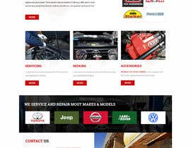 Nro 32 kilpailuun Home page and one sub page designed in PSD for Four Wheel Drive Mechanic Workshop käyttäjältä lee800154
