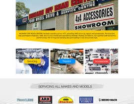 ksmahesh tarafından Home page and one sub page designed in PSD for Four Wheel Drive Mechanic Workshop için no 26