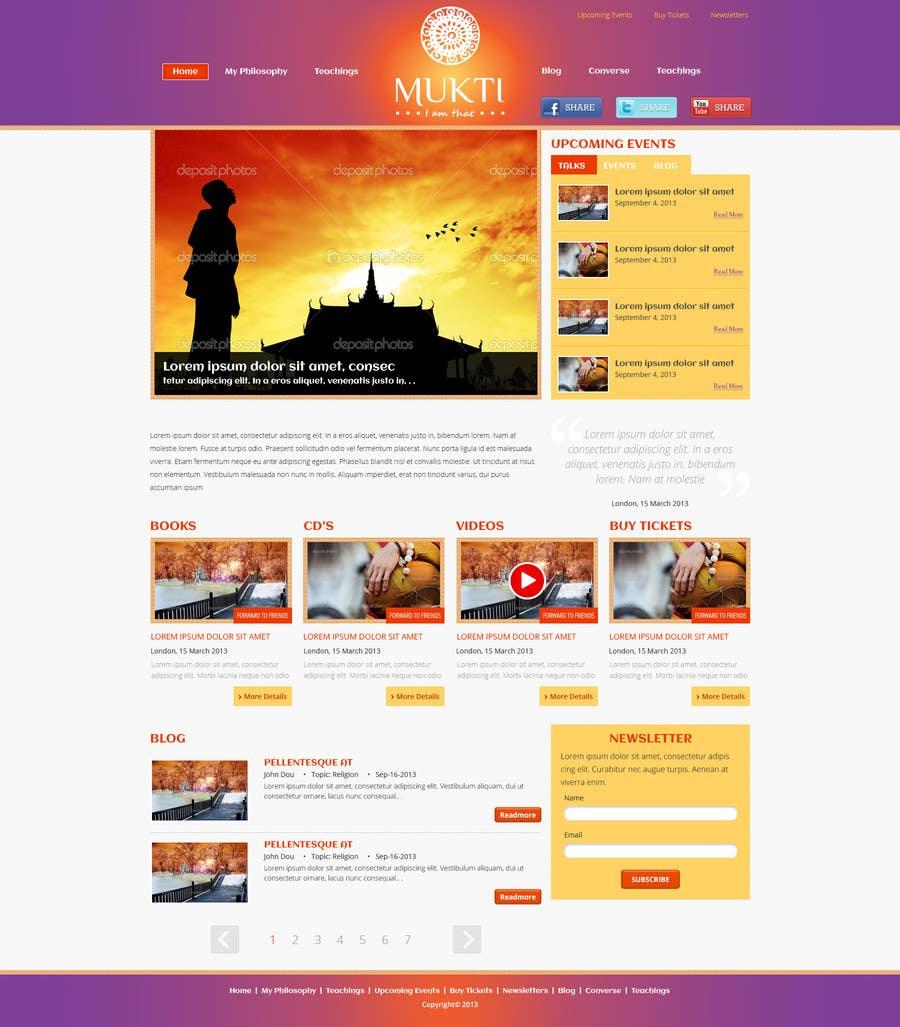 Kilpailutyö #6 kilpailussa Design a Website Mockup for www.mukti.ca