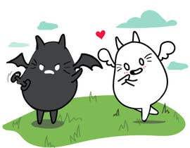 Nro 21 kilpailuun Illustrate Noir Blanc - the two little creatures -- 2 käyttäjältä jntorresb