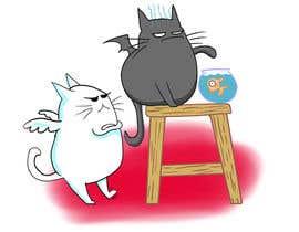 Nro 1 kilpailuun Illustrate Noir Blanc - the two little creatures -- 2 käyttäjältä Tzologeist