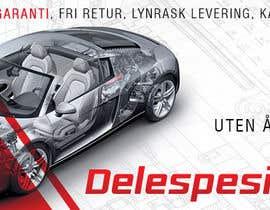 Nro 41 kilpailuun Design banner for car parts 980x300 käyttäjältä hannaametist