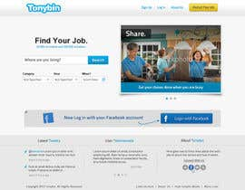 #65 untuk Website Design for Tonybin (simple and cool designs wanted) oleh galactica86