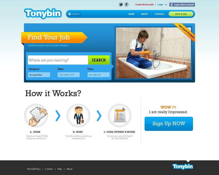 Proposition n°                                        90                                      du concours                                         Website Design for Tonybin (simple and cool designs wanted)