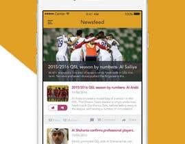 Nro 8 kilpailuun Design an App Mockup Football League app käyttäjältä Nayemhasan09