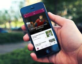 Arteer tarafından Design an App Mockup Football League app için no 12