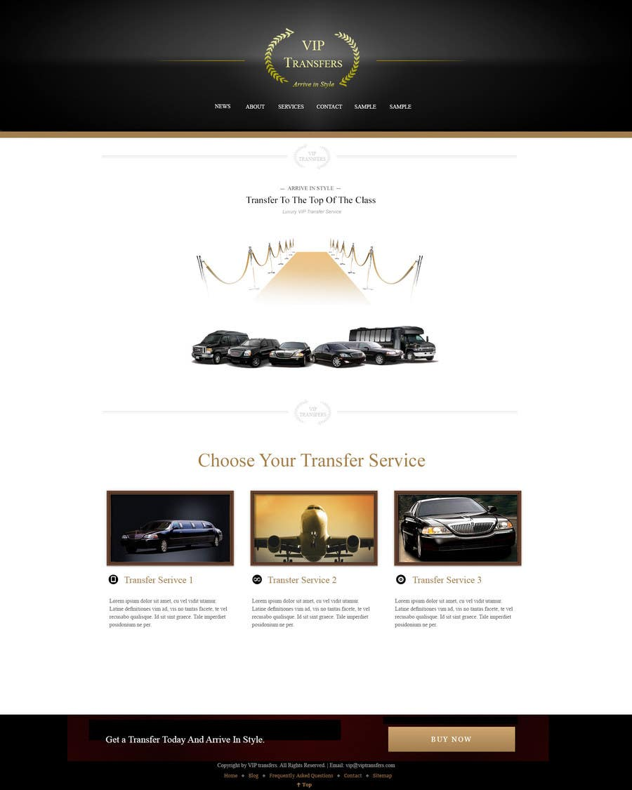 Proposition n°46 du concours Design a Website Mockup for VIP Taxi Transfers
