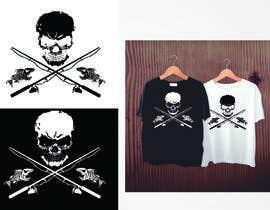 Nro 2 kilpailuun Design a skull/fishing T-Shirt käyttäjältä valgonx