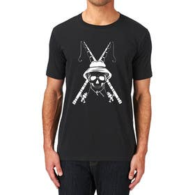 ozafebri tarafından Design a skull/fishing T-Shirt için no 34
